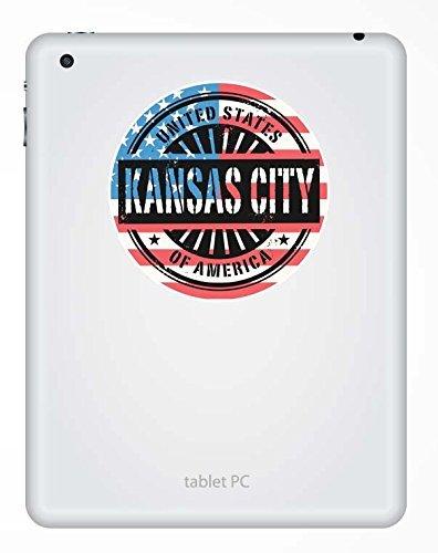 2 x Kansas City Missouri USA Vinyl Sticker Laptop Travel Luggage Car #6076