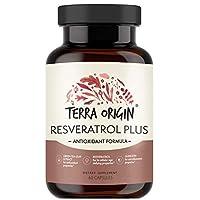 Terra Origin Resveratrol Plus Youthful Skin & Antioxidant Capsules with Hyaluronic...