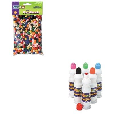 KITCKC2400CKC3552 - Value Kit - Creativity Street Pony Beads (CKC3552) and Creativity Street Sponge Paint Set (CKC2400)