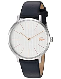 Lacoste Women's Stainless Steel Quartz Watch with Leather Strap, Blue, 14 (Model: 2001077)