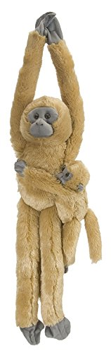 Wild Republic  Common Langur w/baby Plush, Monkey Stuffed Animal, Plush Toy, Gifts for Kids, Hanging 20 Inches - Monkey Stuffed Toy