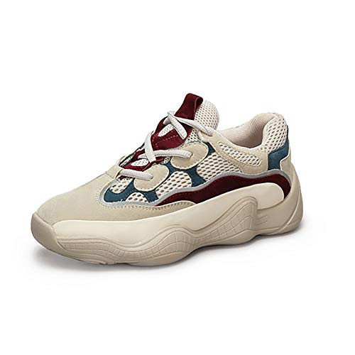 Beige Kong Opcional Deportivos Hong Mujer Ugly Zapatos Shoes Fire Color Zapatos Female Style Autumn De Super ZYUqUB