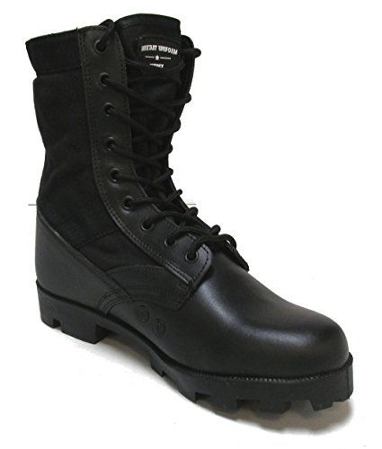 Jungle Vulcanized Boot - Military Uniform Supply Jungle Boots - BLACK - Size 11 REG