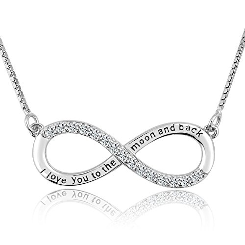 CharmSStory Infinity Sterling Necklace Girlfriend