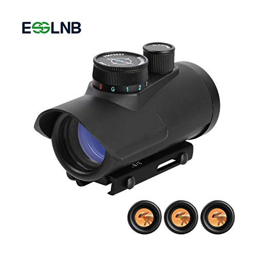 ESSLNB Red Dot Sight Airsoft Sights Scope Red/Green/Blue 3 Brightness Settings Reflex Sight with 11mm/22mm Weaver/Picatinny Rail Mount and Covers