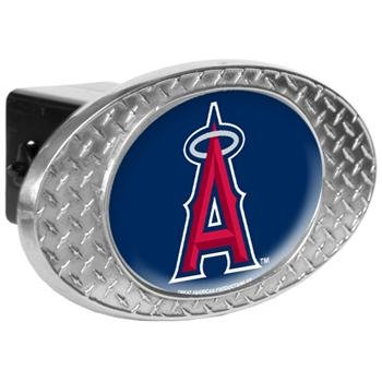 MLB Los Angeles Angels Metal Diamond Plate Trailer Hitch Cover