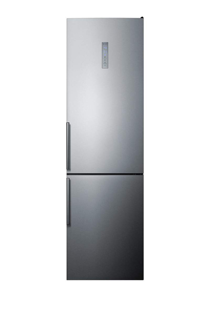 Summit FFBF192SS 24 Inch Counter Depth Bottom Freezer Refrigerator in Stainless Look
