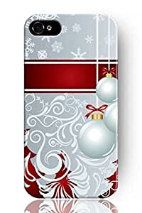 SPRAWL New Classic Charming Hard Plastic Snap on Slim Fit Snowflake and Balls Holiday iPhone 5 5s Case for Girls
