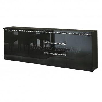 Kommode design schwarz  Kommode 220 cm mit Strasssteinen design Schwarz lackiert, CROMO ...