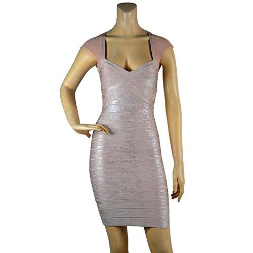 HLBCBG Damen Schwarz Schwarz Pink Kleid Schwarz rrqFxwd1B