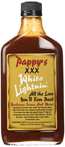 Bourbon Q Pappys XXX White Lightnin BBQ Sauce