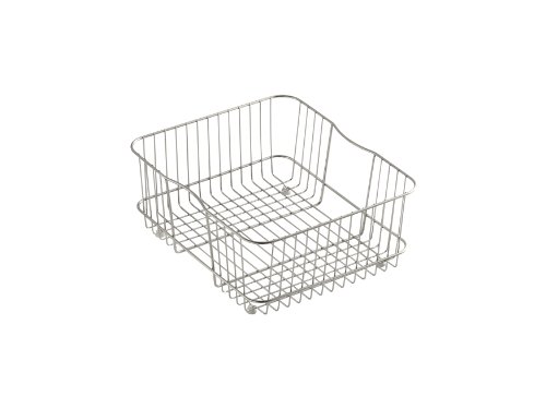 (KOHLER K-3277-ST Coated Wire Rinse Basket, Stainless Steel)