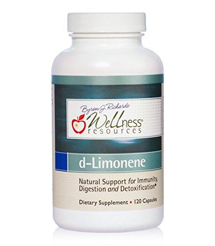 High Potency d-Limonene Capsules (1000mg, 120 Capsules) - Orange Peel Extract for Digestive Health, Immunity, Detoxification