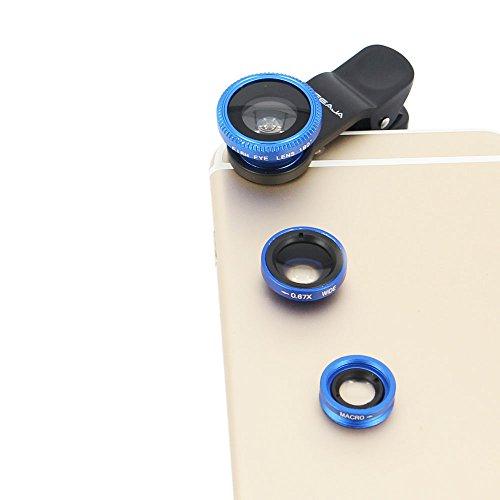 Universal 3-in-1 180°Fisheye Lens (Blue) - 1