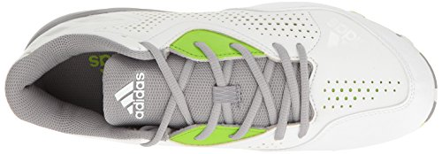 adidas Performance Damen Wheelhouse 4 W Softballschuh Weiß / Aluminium / Semi Solar Grün