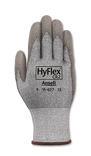 Ansell HyFlex 11-627 Lycra Light Duty Safety Glove with DSM Dyneema Technology, Abrasion/Cut Resistant, Size 9, Gray (Pack of 12 Pair) by Ansell (Image #2)