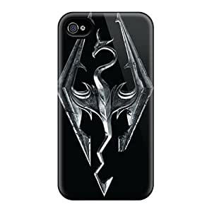 Protective Hard Phone Cover For Iphone 4/4s (MWm15727SxvY) Customized Stylish Skyrim Pattern
