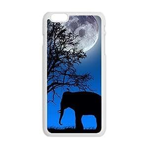 Beautiful night scenery unique elephant Case for Iphone 6