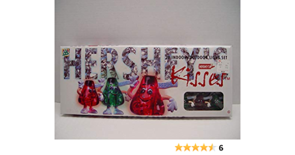 Vintage  Retro 1996 Hershey/'s Kisses 20 Indoor  Outdoor Novelty Light Set Christmas Tree Twinkle Light Strand In Box Chocolate Candy