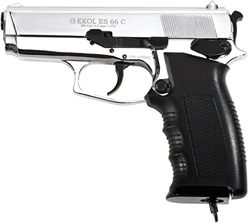 Ekol ES 66C Compact CO2 BB Pistol - Chrome Finish
