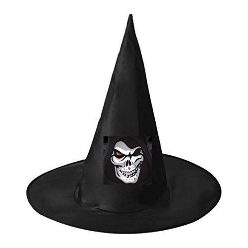 The Skeleton Man Black Witch Hats Costume Halloween Party Carnivals Costume Accessory Cap Toys For Girl And Boy