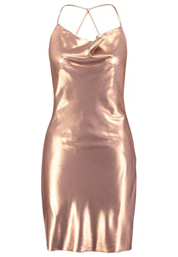 MISS SELFRIDGE Cocktailkleid / festliches Kleid - Metallic - Damen Gr.40
