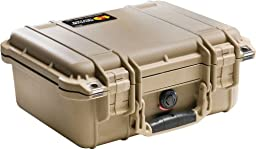 Pelican 1400 Camera Case With Foam (Desert Tan)