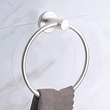 Amazon.com: Stainless Steel Towel Ring, for bathroom, Kitchen, Hotel Quality.: Home & Kitchen