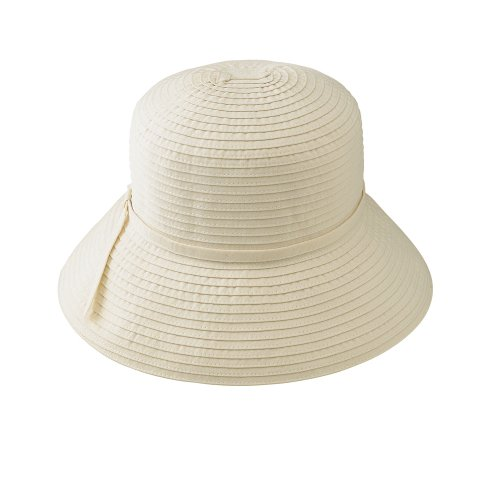 San Diego Hat Company Women's Ribbon Crusher Hat,Cream,One Size (Crusher Hat Ribbon)