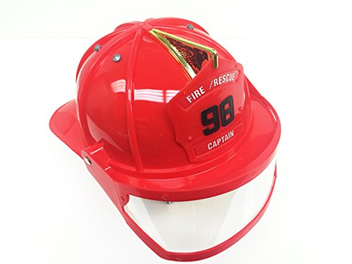 GIFTEXPRESS Toy Firefighter Helmet with Visor/Fireman Helmet/Fireman (Kids Fire Helmet)