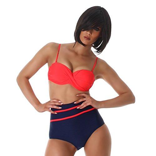 MD-Summertime - Conjunto - Básico - para mujer Navy-Rot