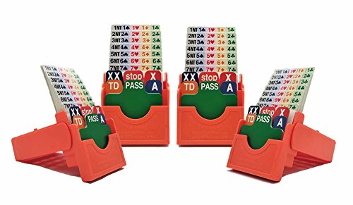Orange Box Official - Bidding BoxeswithBridgePlaying Cards 4Set BridgePartner Device Official - Orange (Paper Cards)