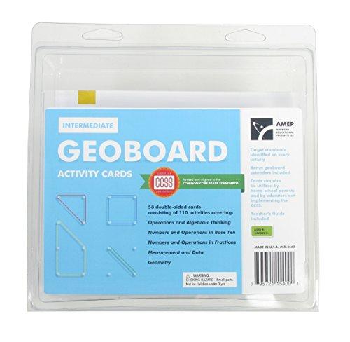 Intermediate Geoboard Activity Cards (58 Piece Set) (58 Piece Set)