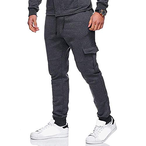 Men Sweatpants Men Slacks Elastic Sport Baggy Pockets Trousers Pant Casual Sweatpant Jogger Pants