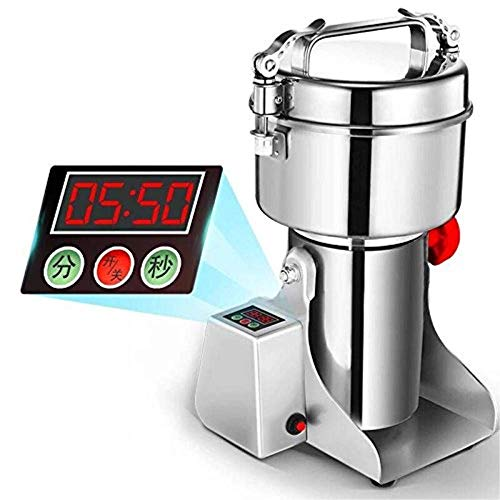 er Grinding Machine Stainless Steel 25000 r/min Pulverizer Machine for Kitchen Herb Spice Pepper Coffee Powder Grinder (350g) ()