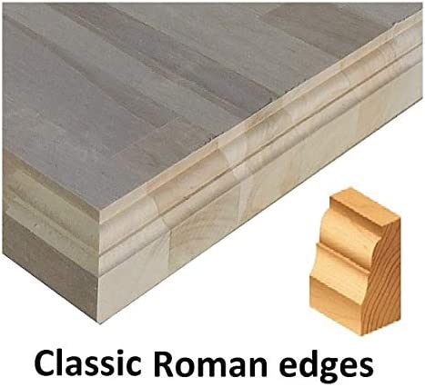 Allwood 1.5 x 30 x 84 Birch Table Counter Island Top See All Edge Options Classic Roman Edges