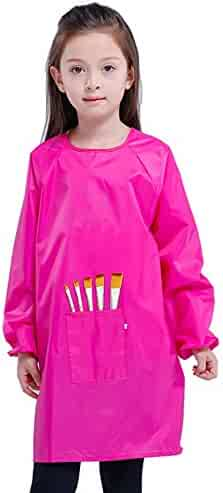 Royar beauty Kids Painting Apron, Waterproof Art Smocks for Child,Artist Aprons with Long Sleeve,Long Section Apron for Toddler(Medium-XXL)