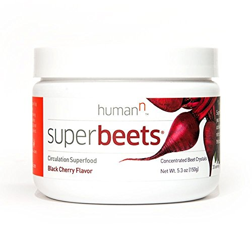 Beet Juice Benefits (SuperBeets - Circulation Superfood - Premium Nitric Oxide Booster - Non-GMO Nitrate Rich Beet Root Powder - Black Cherry Flavor - 5 Ounce 30 Servings)