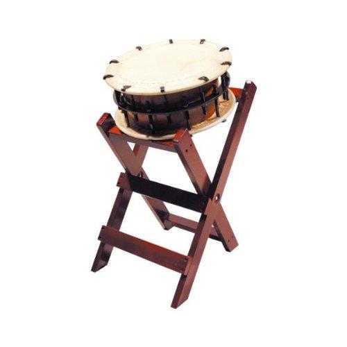 締太鼓35cm(ボルト締めくりぬき胴) 子ども用立台座セット   B00IP24O6Q