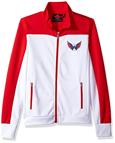 Washington Capitals Nhl Light (NHL Washington Capitals Women's Play Maker Track Jacket, X-Large, White)