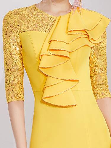 Bingqz D'anniversaire De Robe Vêtements Nouvelle Femelle Fiançailles Soirée Paragraphe Xl Court Cocktail2019 Minceur Banquet Hôte cRjq354AL