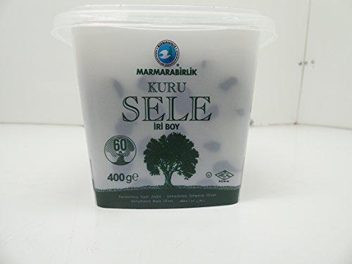 Marmarabirlik Exclusive Dried Sele Large Black Olives -14.1oz (Iri Kuru Sele Siyah Zeytin) - Exclusive Olive