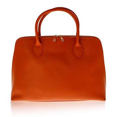 Borsa a Mano da Donna Made in Florence Vera Pelle 37*27*12 cm Rosso