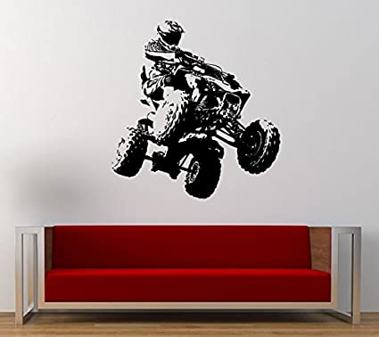 Sensational Amazon Com Atv Quad Bike Dirt Stunt Racing Wall Graphic Ocoug Best Dining Table And Chair Ideas Images Ocougorg