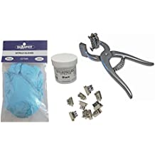 Small Animal Complete Tattooing Kit with digits 0-9, Nitrile gloves, and Ink for Identification of Sheep, Pigs, Goats, Cats, Dogs