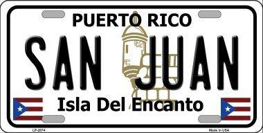 Puerto Rico Metal (Smart Blonde LP-2874 San Juan Puerto Rico Metal Novelty License Plate)