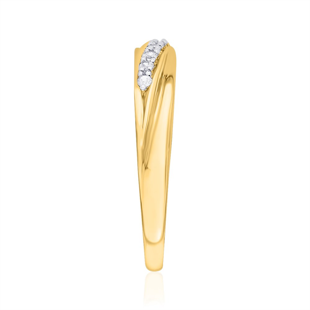 Size-11.25 G-H,I2-I3 1//20 cttw, Diamond Wedding Band in 10K Yellow Gold