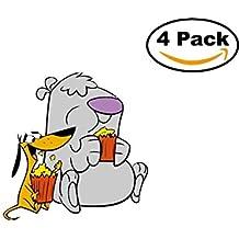 2 Stupid dogs 4 Stickers 4x4 Cartoon Car Bumper Window Sticker Decal