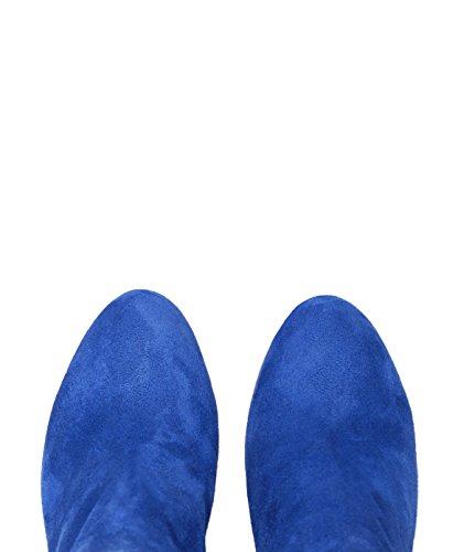 PoiLei Maya - Damen Schuhe / Sommer-Stiefelette - Ankle-Boot mit Blockabsatz blau