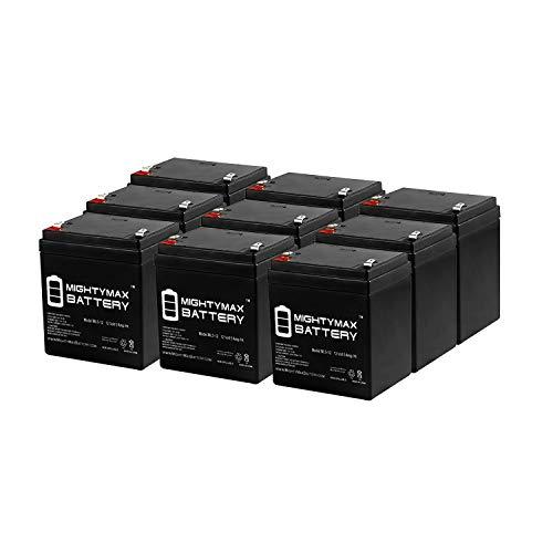 Control Elk M1ez8 - Mighty Max Battery 12V 5AH SLA Battery Replacement for ELK M1EZ8 Control Kit - 9 Pack Brand Product